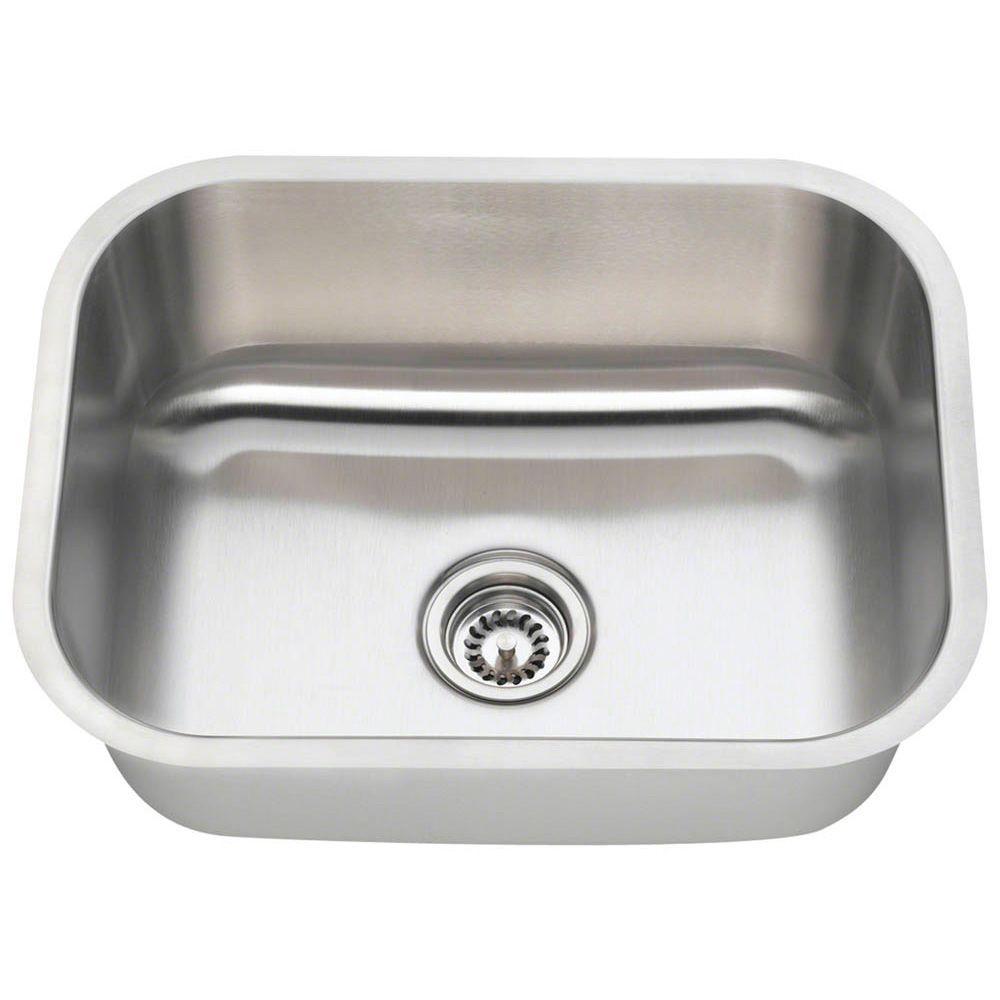 polaris sinks undermount stainless steel 23 in  single bowl kitchen sink  p8132 16   the home depot polaris sinks undermount stainless steel 23 in  single bowl      rh   homedepot com
