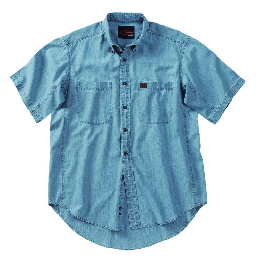 c971bda76ca8 RIGGS WORKWEAR 2X-Large Men s Riggs Chambray Work Shirt-3W531BL ...