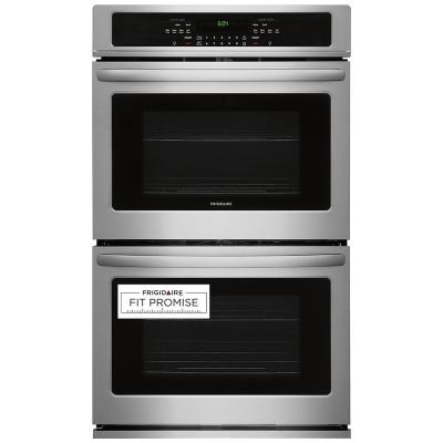 Total Oven Capacity Self-Clean in Stainless Steel GE JK3500SFSS 27 Built-In Double Wall Oven with 8.6 cu ft