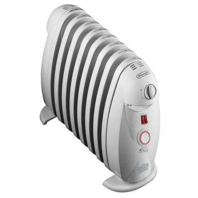 1200-Watt 8-Fin Oil-Filled Radiant Portable Heater with Timer and GFCI Plug