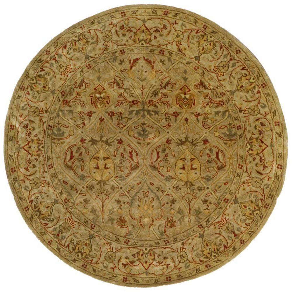 Persian Legend Moss/Beige 6 ft. x 6 ft. Round Area Rug