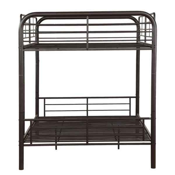 Homeroots Amelia Gray Metal Tube Full Bed 285313 The Home Depot