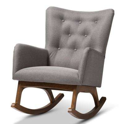 Waldmann Gray Fabric Rocking Chair