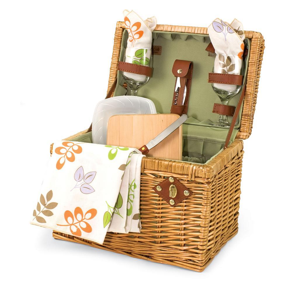 Botanica Napa Natural Wood Wine & Cheese Basket