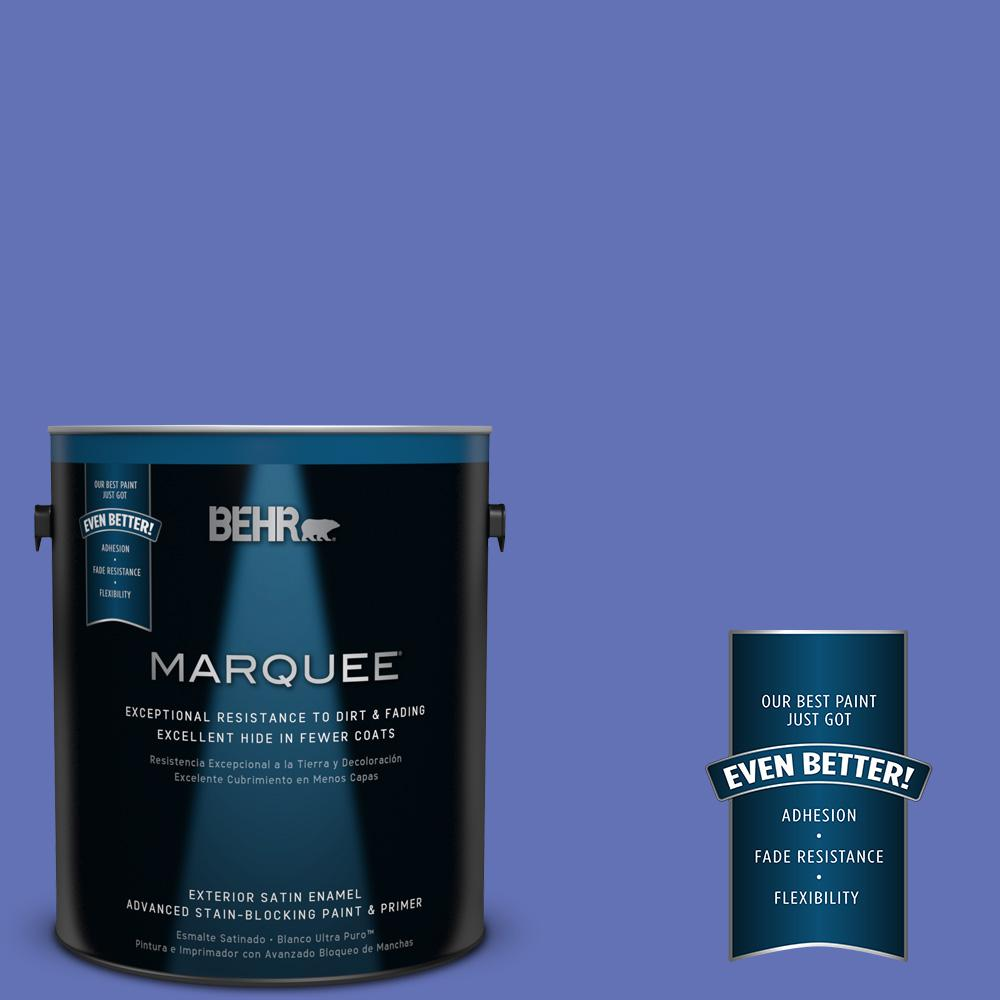 BEHR MARQUEE 1-gal. #P540-6 Wild Pansy Satin Enamel Exterior Paint