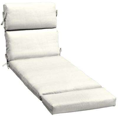 Sunbrella Canvas White Outdoor Chaise Lounge Cushion