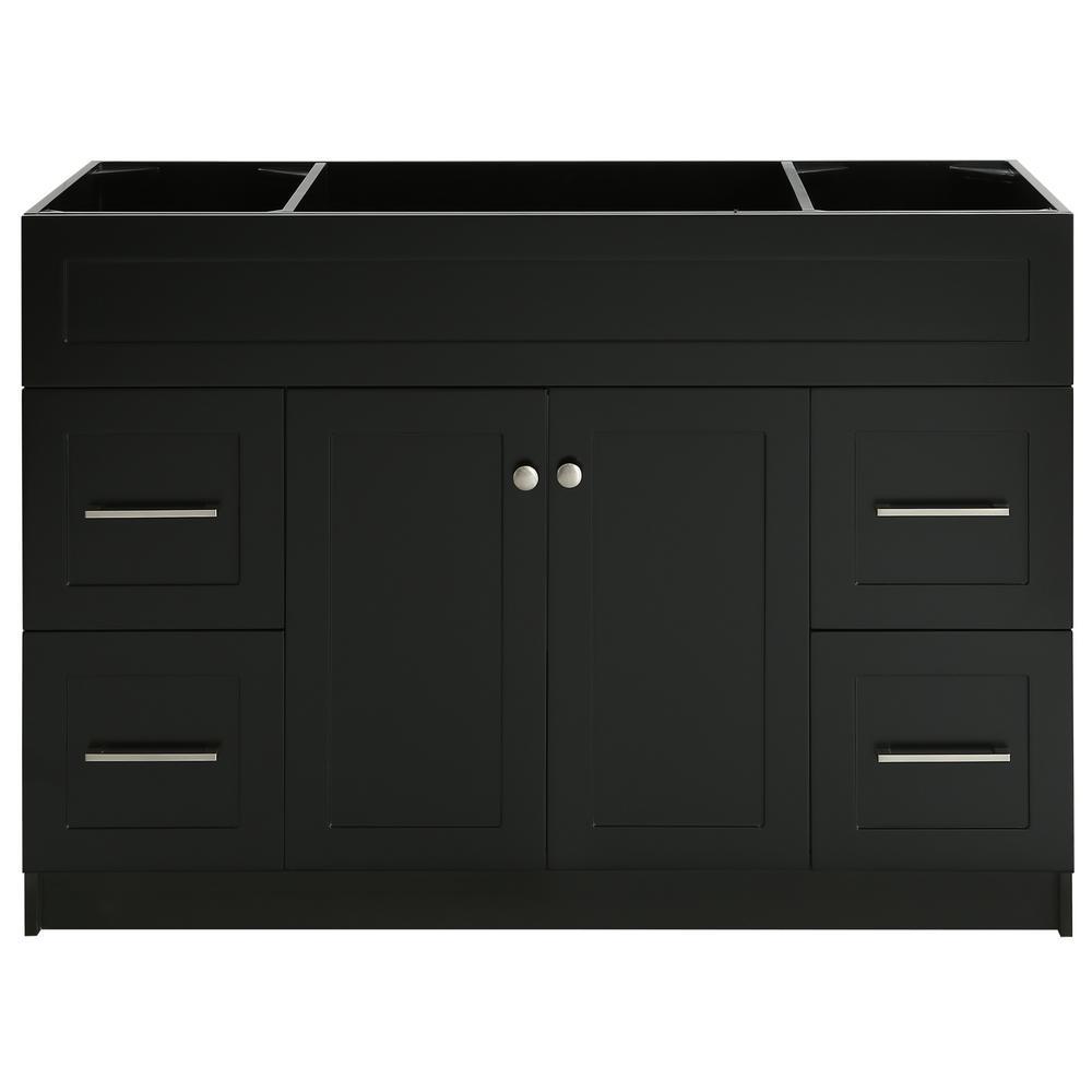 Hamlet 48 in. W x 21.5 in. D x 33.5 in. H Bath Vanity Cabinet Only in Black