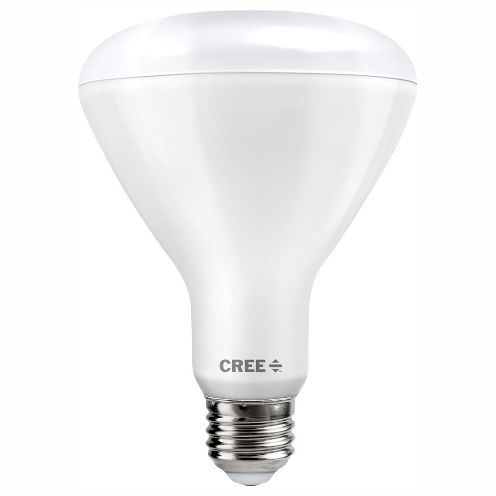 Cree 100W Equivalent Soft White (2700K) BR30 Dimmable Exceptional Light Quality LED Light Bulb