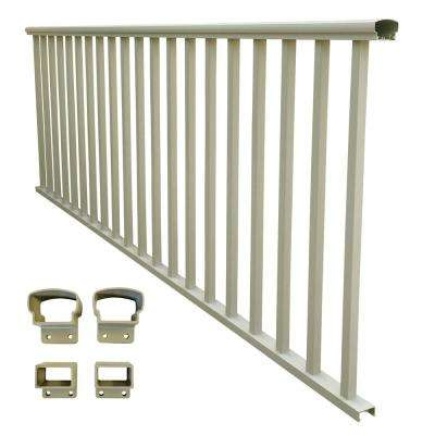 8 ft  x 36 in  Clay Aluminum Baluster Railing