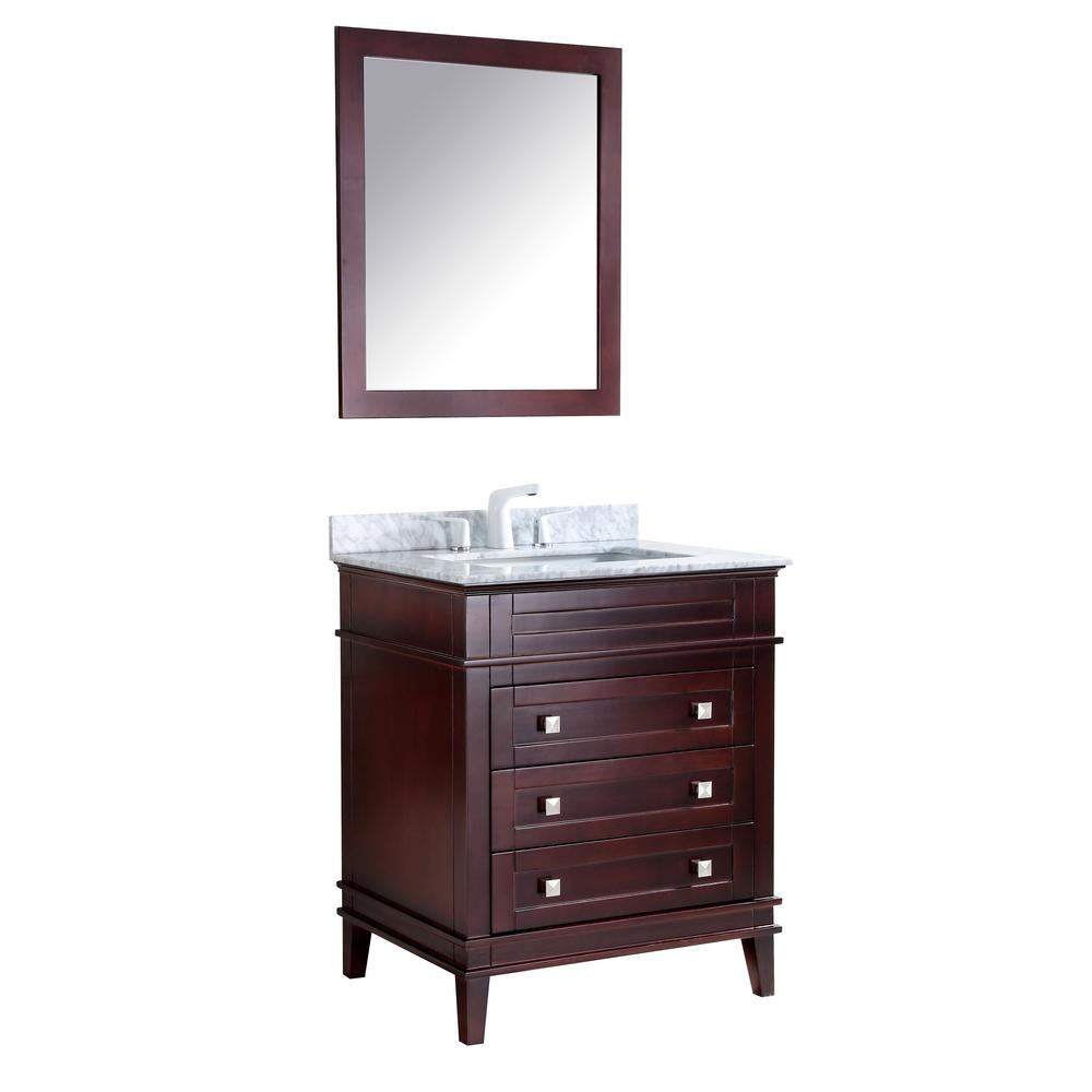 W X 35 In. H Bath Vanity In Chocolate With