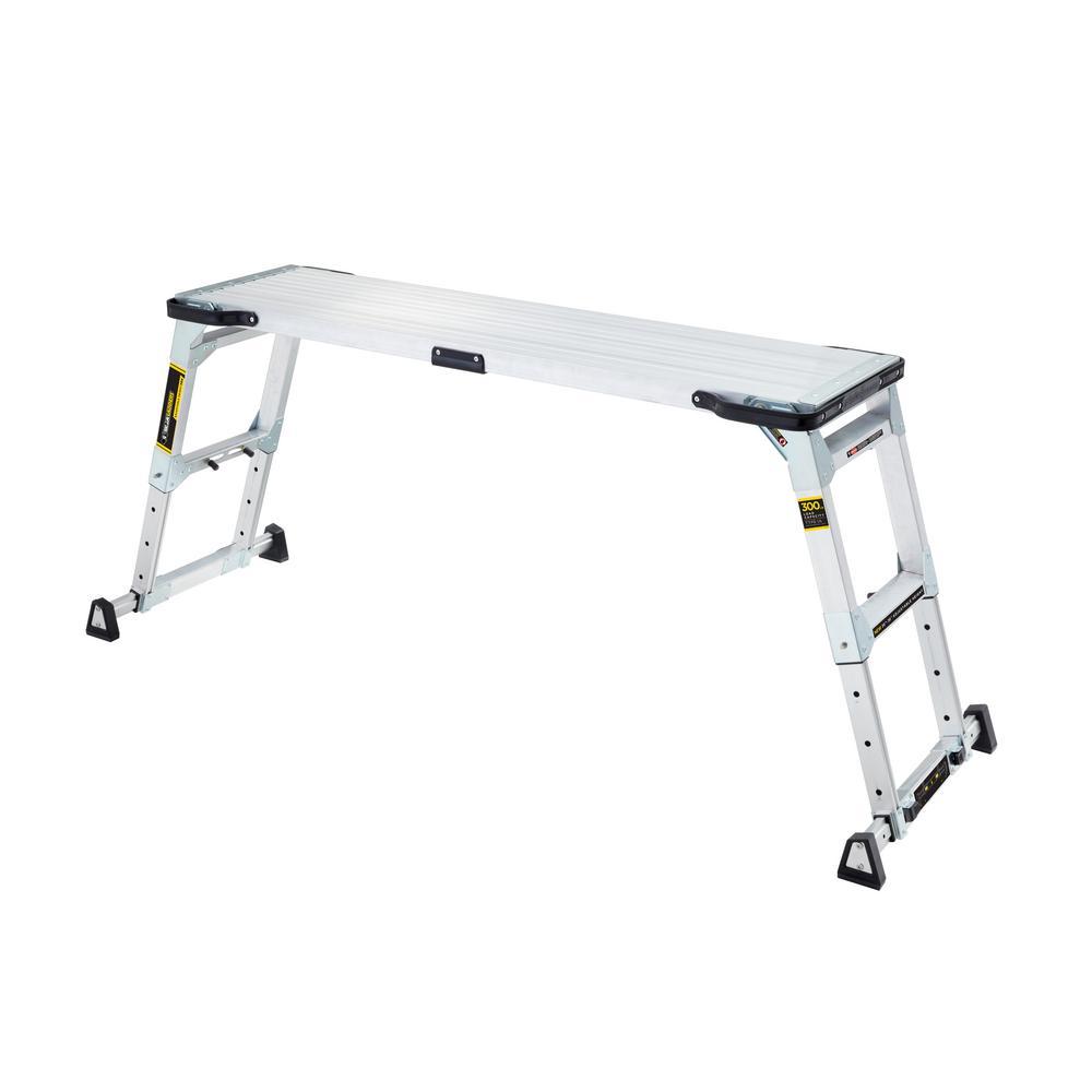 Gorilla Ladders 55 In X 14 20 Heavy Duty Adjule