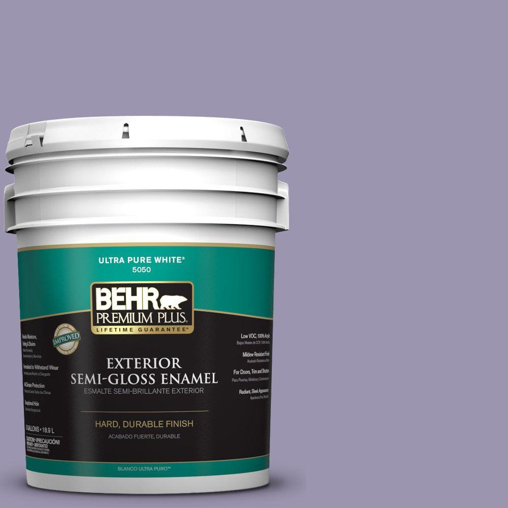 BEHR Premium Plus 5-gal. #S570-4 Night Music Semi-Gloss Enamel Exterior Paint