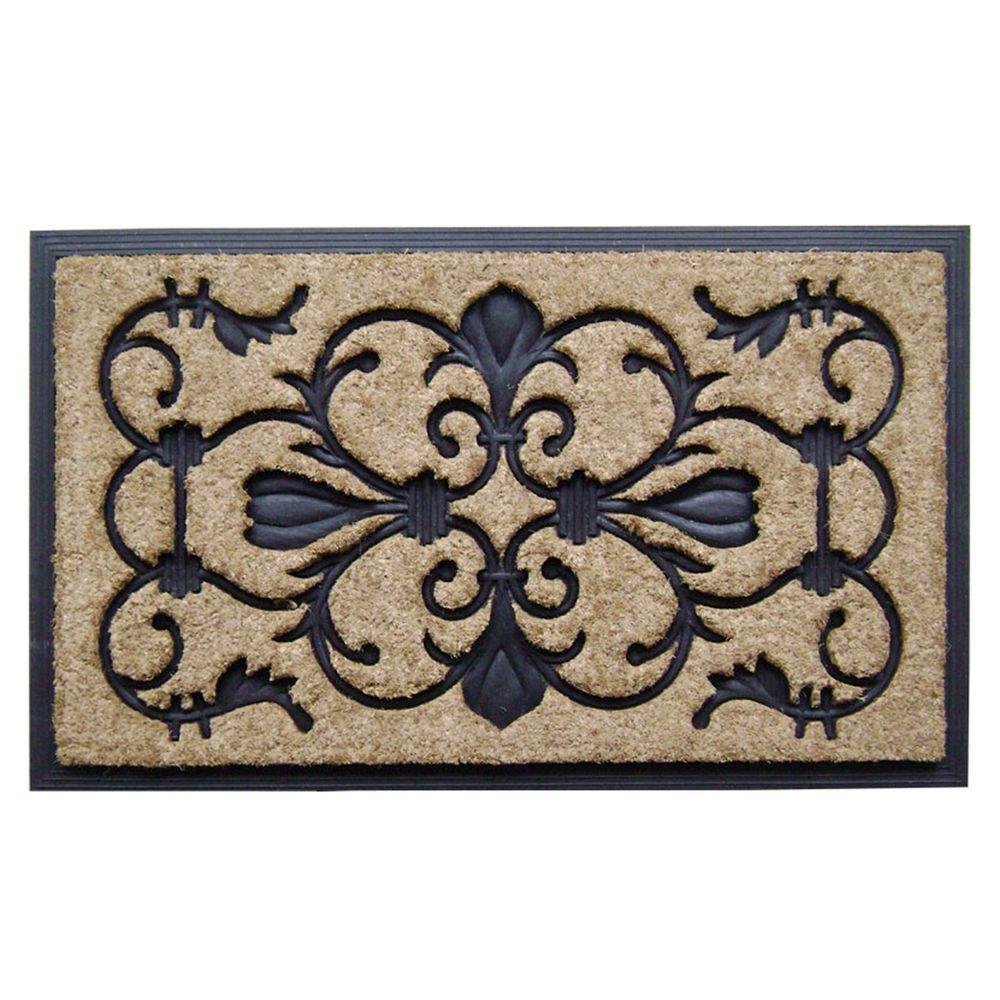 Dirt Busters Majesty 18 in. x 30 in. Rubber Coir Door Mat...