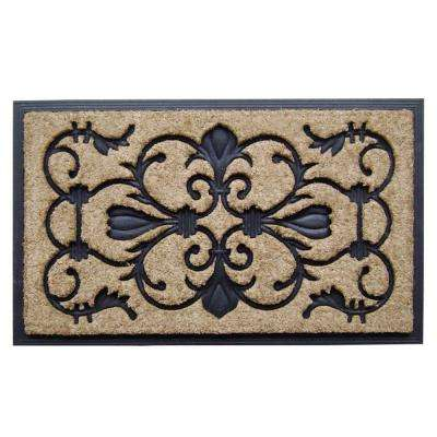 Dirt Busters Majesty 18 in. x 30 in. Rubber Coir Door Mat