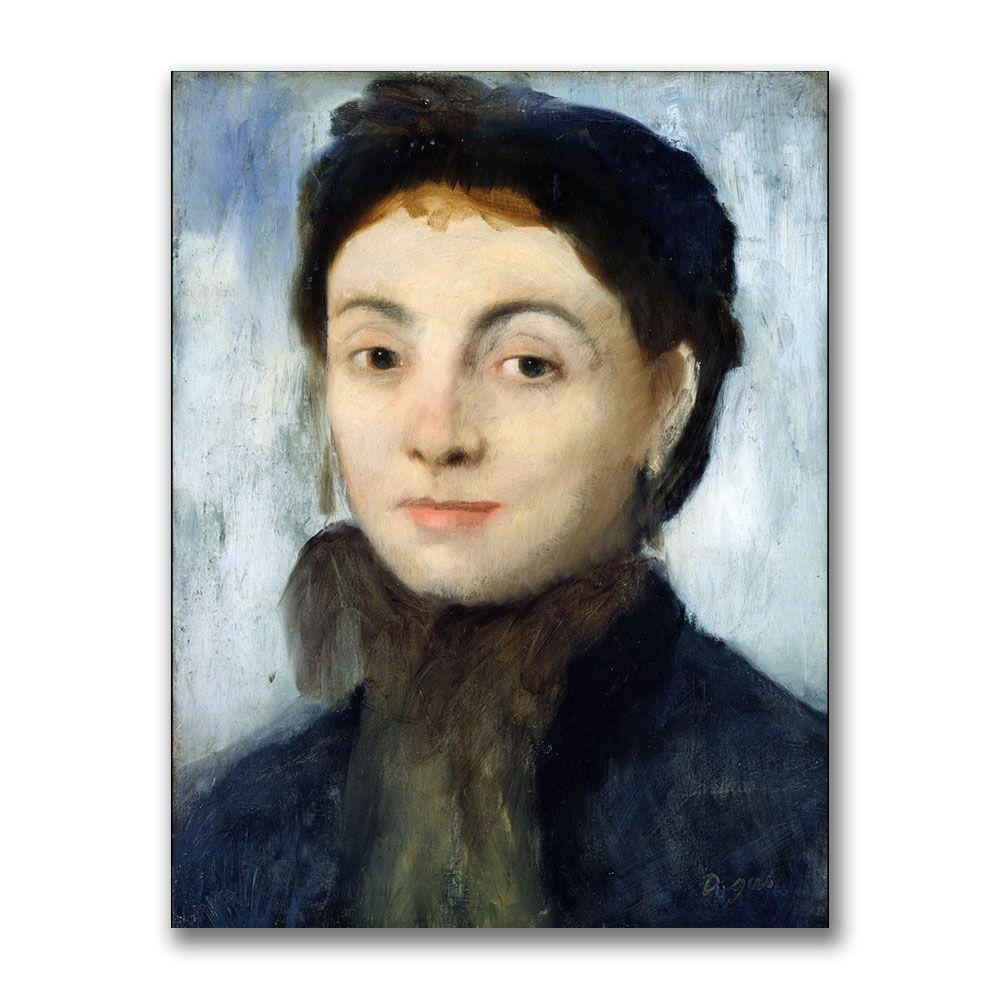 Trademark Fine Art 24 in. x 32 in. Portrait of Josephine Gaujelin Canvas Art