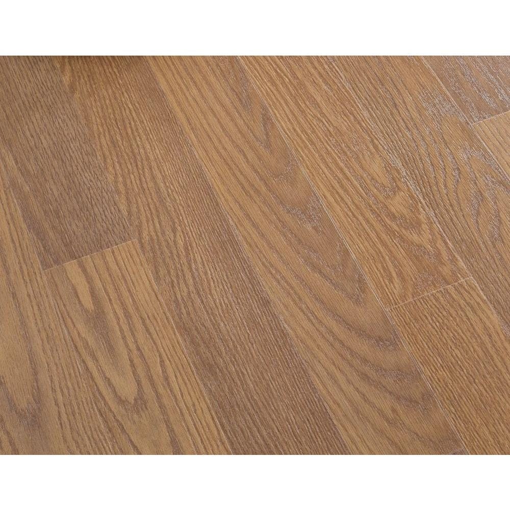 null Honey Oak Laminate Flooring - 5 in. x 7 in. Take Home Sample-DISCONTINUED