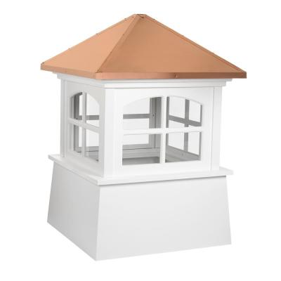 Huntington 18 in. x 25 in. Vinyl Cupola with Copper Roof