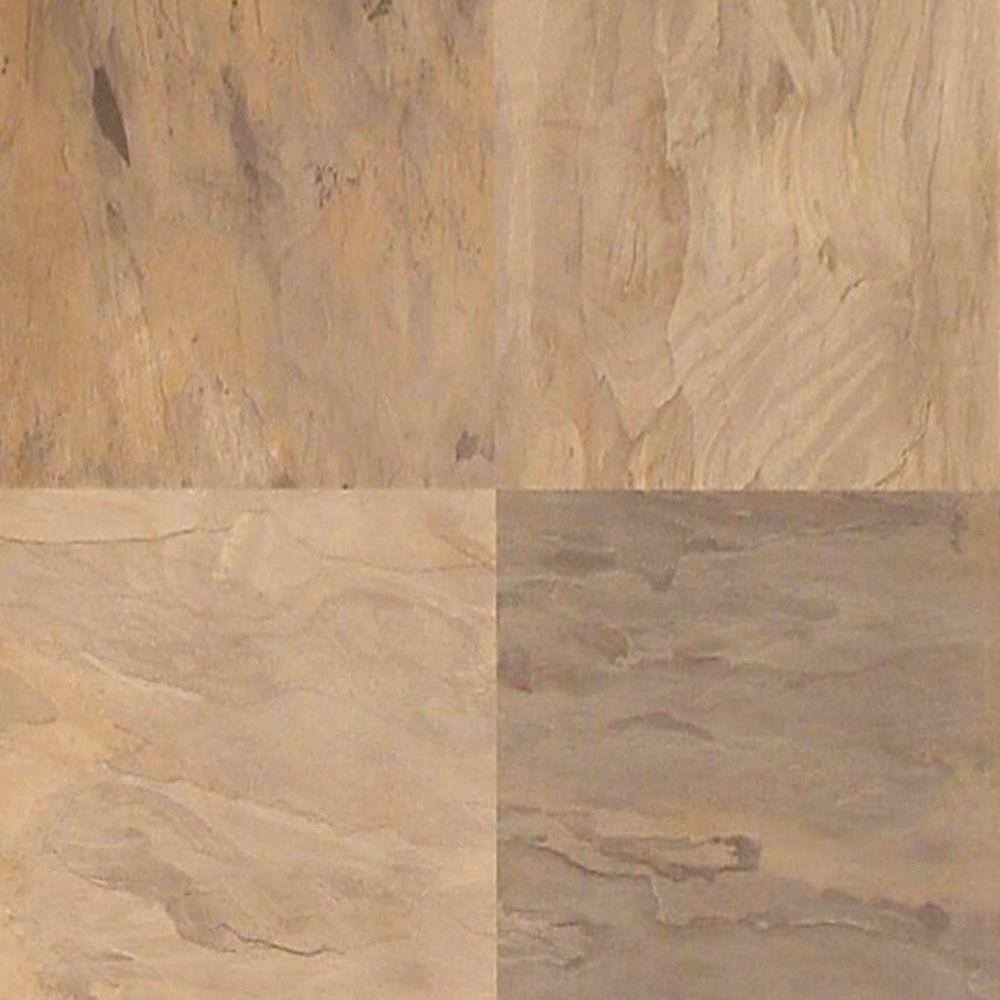 Hampton Bay Mojave Slate 10 mm Thick x 15-1/2 in. Wide x 46-2/5 in. Length Click Lock Laminate Flooring (20.02 sq. ft. / case)