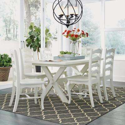 Seaside Lodge White Dining Chairs (Set of 2) & Wood - Ladder Back - Coastal - Dining Chairs - Kitchen u0026 Dining Room ...
