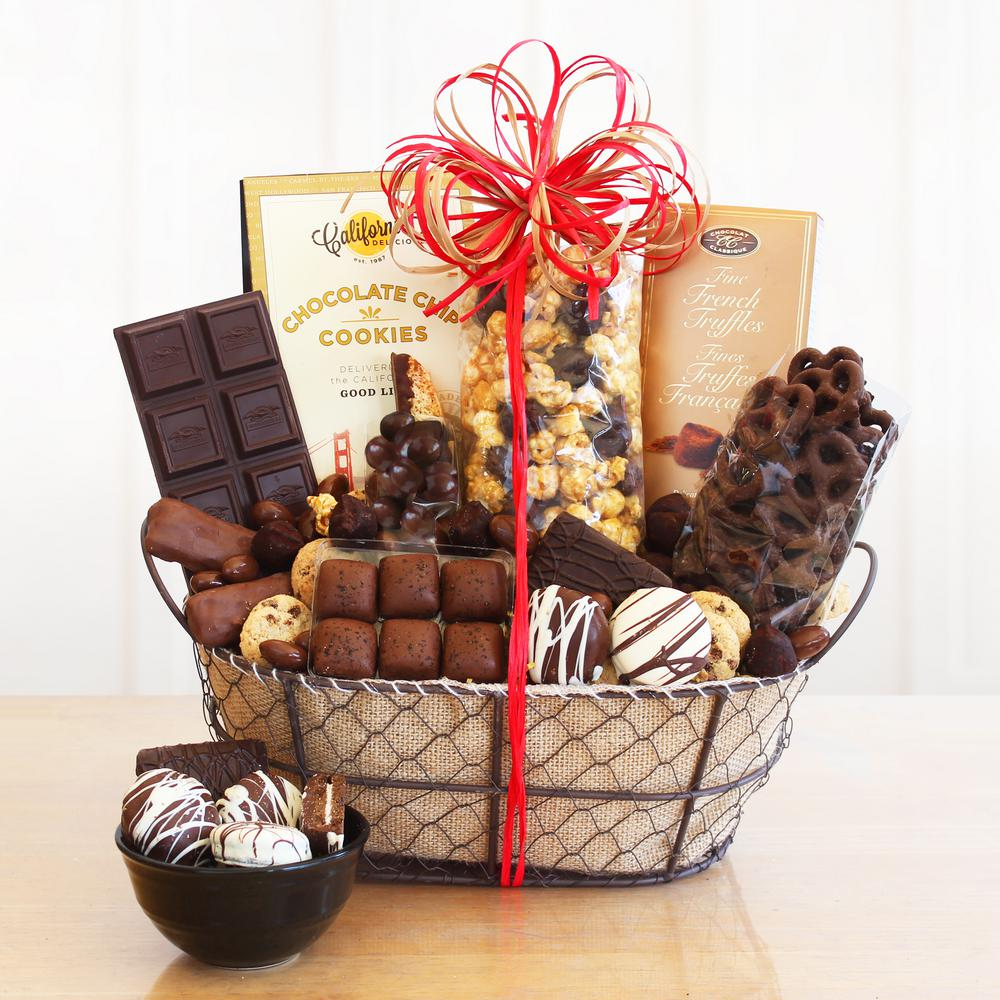 New Home Gifts Gift Baskets Gifts Com: Givens & Company Chocolate Delights Basket-GIV-5681