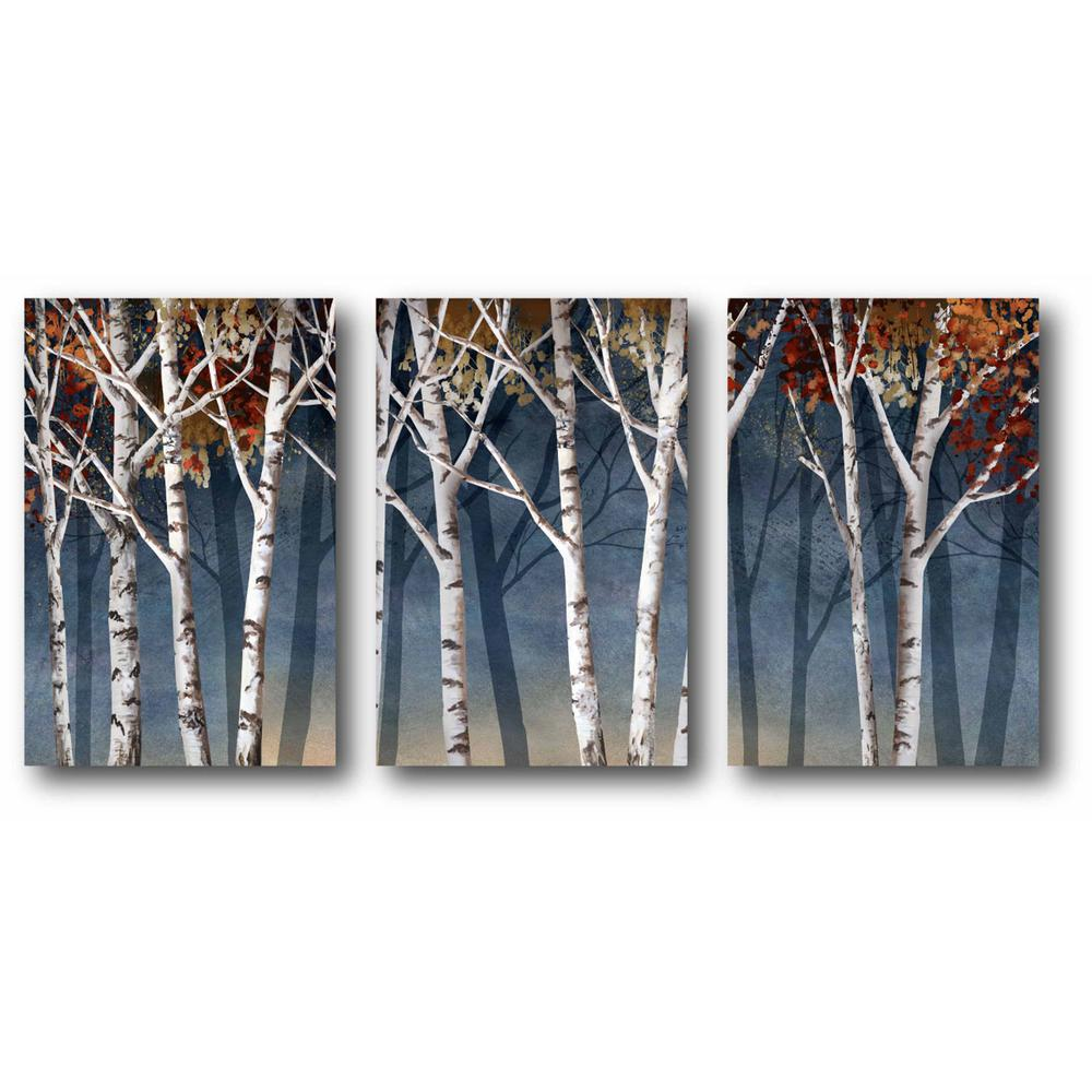 Courtside Market Birch Trees 3 Piece Canvas Printed Wall Art Set Web Mcls183 The Home Depot