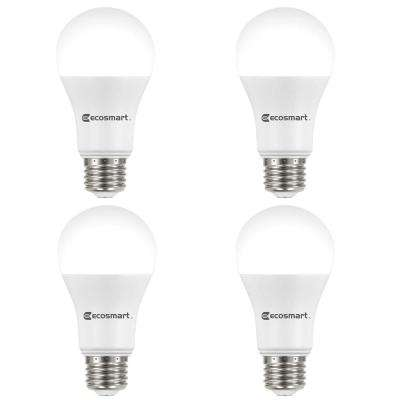 100-Watt Equivalent A19 Non-Dimmable CEC LED Light Bulb Soft White (4-Pack)