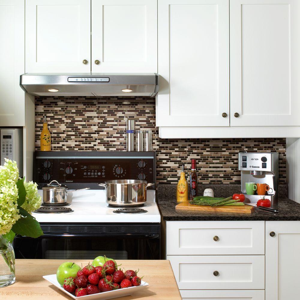Smart Tiles Bellagio Keystone 10.06 in. W x 10.00 in. H Peel and Stick Decorative Mosaic Wall Tile Backsplash