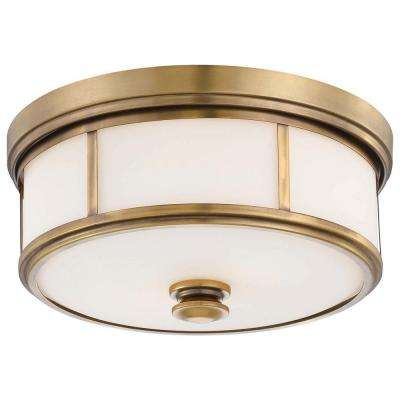 Harbour Point 2-Light Liberty Gold Flush Mount
