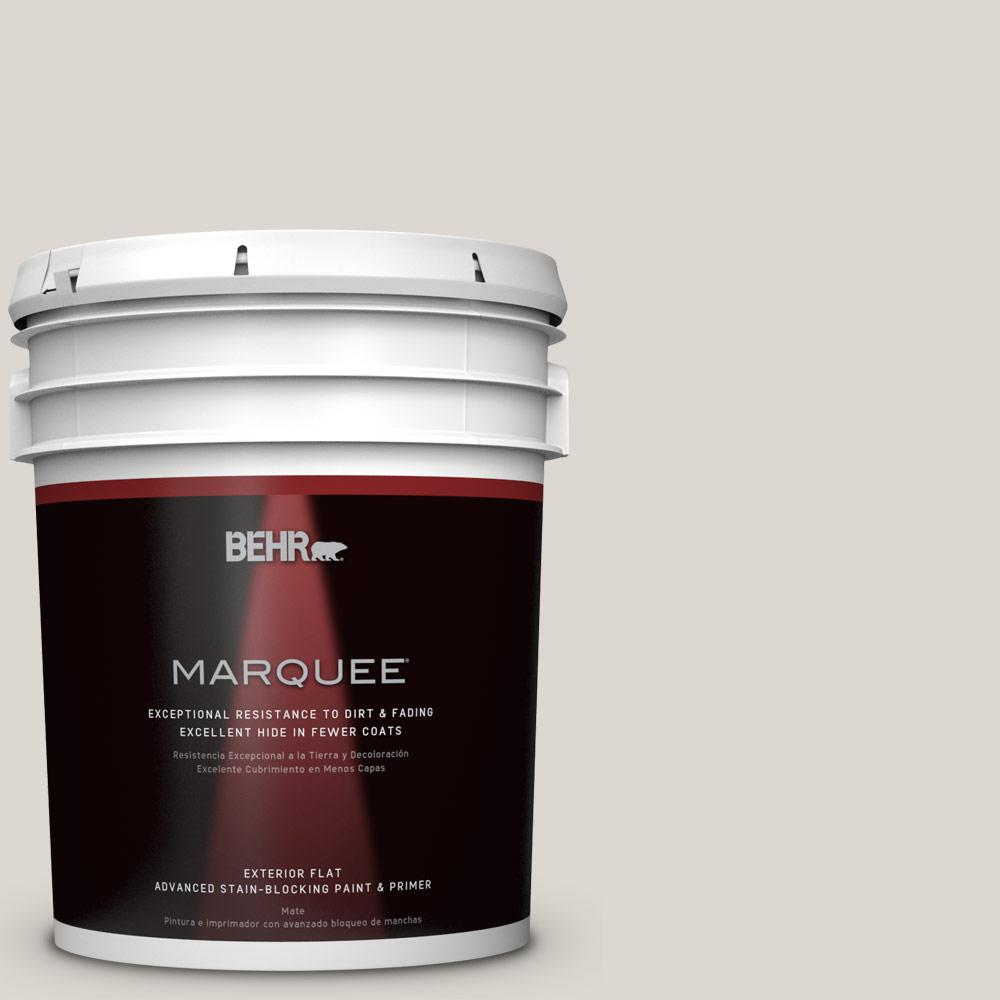 BEHR MARQUEE 5-gal. #N320-1 Campfire Ash Flat Exterior Paint, Grays