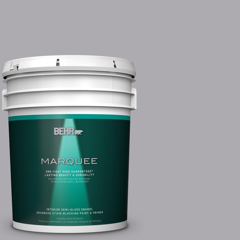 5 gal. #MQ5-4 Classy One-Coat Hide Semi-Gloss Enamel Interior Paint