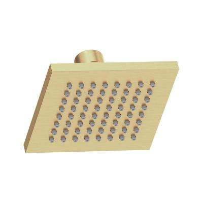 Duro 1-Spray 4 in. Fixed Square Showerhead in Brushed Bronze