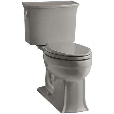 Archer Comfort Height 2-piece 1.28 GPF Single Flush Elongated Toilet with AquaPiston Flushing Technology in Cashmere