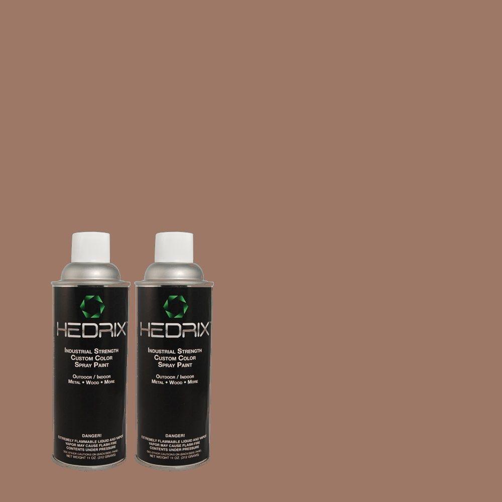 Hedrix 11 oz. Match of 720B-5 Bitter Briar Flat Custom Spray Paint (2-Pack)