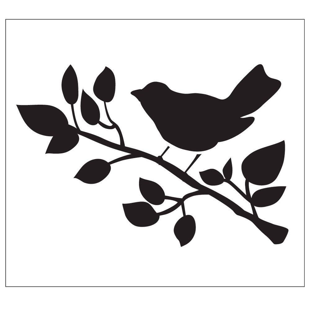 Folkart Bird Painting Stencils 30601 The Home Depot