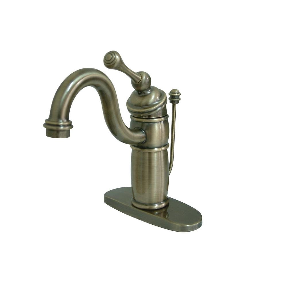 Kingston Brass Victorian Single Hole Single-Handle Bathroom Faucet in Vintage Brass