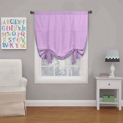 Kendall 63 in L Light Purple Polyester Rod Pocket Curtain, (1-Pack)