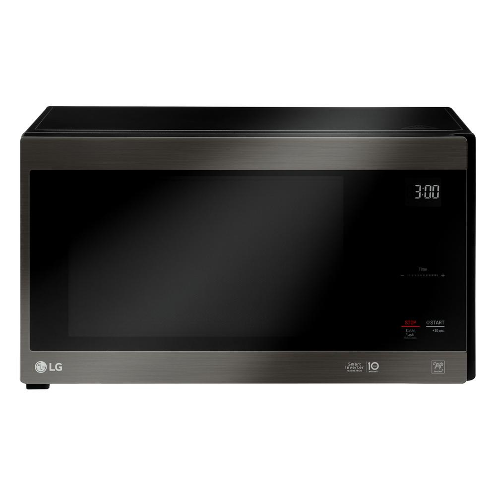 Lg Electronics Neochef 1 5 Cu Ft Countertop Microwave In Black Stainless Steel