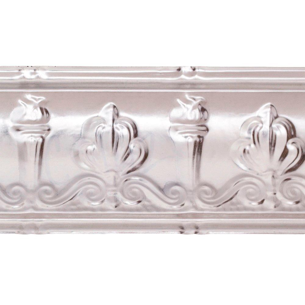 Great Lakes Tin 48 in. Superior Tin Crown Molding in Unfinished