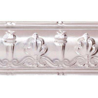 48 in. Superior Tin Crown Molding in Unfinished