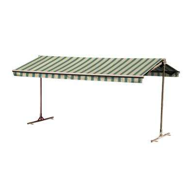 16 ft. Oasis Freestanding Manual Retractable Awning (120 in. Projection) in Spruce
