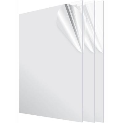 Adiroffice 24 In X 48 In X 1 8 In Clear Plexiglass Acrylic Sheet 2448 1 C The Home Depot