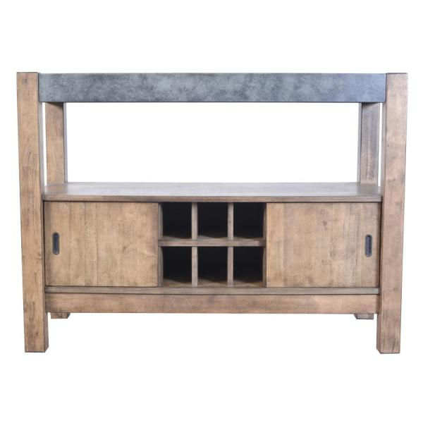 Acme Furniture Paulina II Dark Gray and Rustic Oak Server 74669