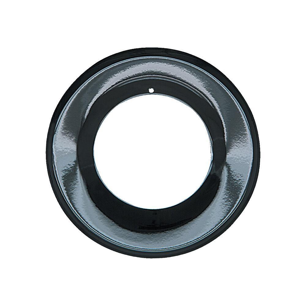 6.875 in. Drip Pan in Porcelain/Black