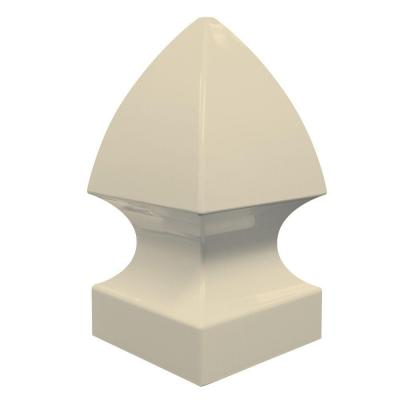 5 in. x 5 in. Sand Vinyl Gothic Post Cap