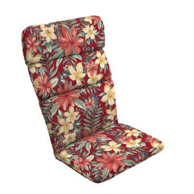 20 in. x 17 in. Ruby Clarissa Tropical Outdoor Adirondack Chair Cushion