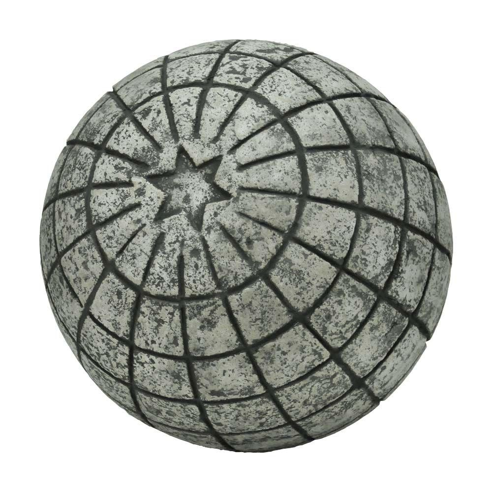 11-1/4 in. D Cast Stone Astro Garden Ball in a Special