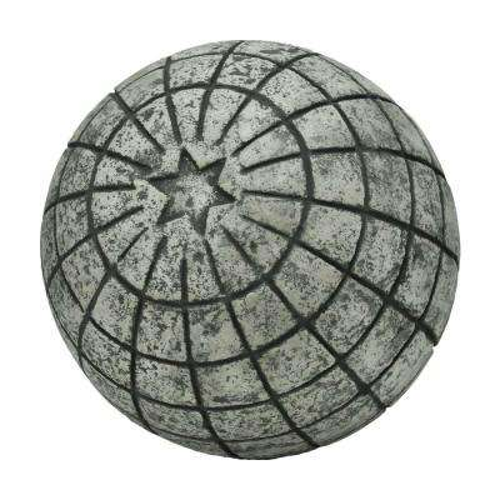 11-1/4 in. D Cast Stone Astro Garden Ball in a Special Aged Granite Finish