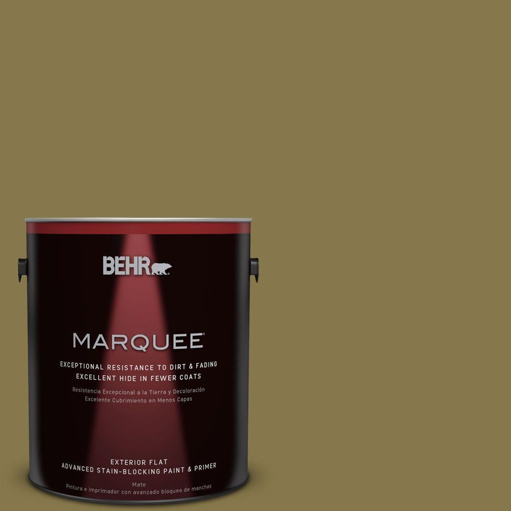 behr marquee 1 gal m330 7 green tea leaf flat exterior paint