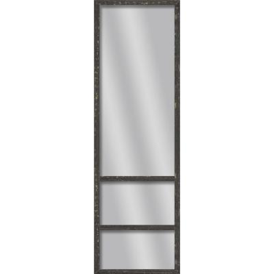 Large Rectangle Black Art Deco Mirror (49.75 in. H x 13.73 in. W)
