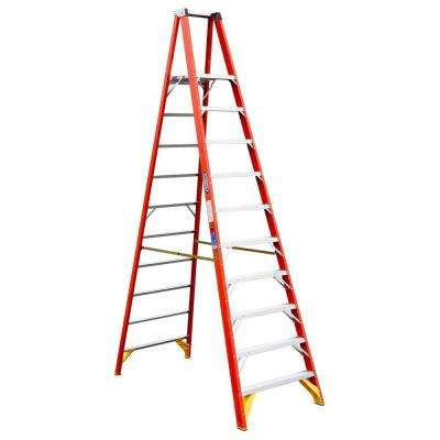 10 ft. Reach Fiberglass Platform Step Ladder with 300 lbs. Load Capacity Type IA Duty Rating